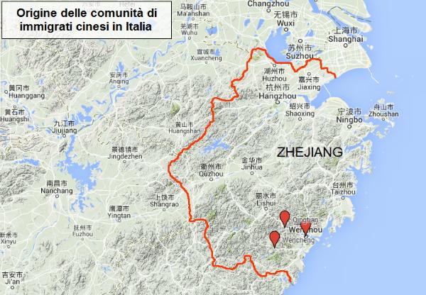 Cartina Cina Con Province.Wenzhou La Citta D Origine Dei Cinesi D Italia Ispi