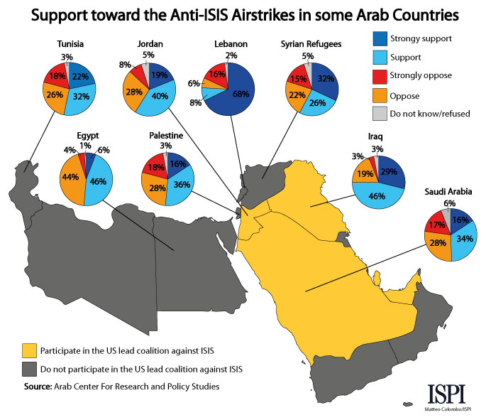 The support for ISIS in the Arab world | ISPI on world map in oman, world map in kuwait, world map in bahrain,